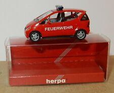 rare MICRO HERPA HO 1/87 MERCEDES-BENZ A-KLASSE FEUERWEHR POMPIERS IN BOX