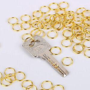 Ring 10mm Doppelring Edelstahl 3 Farben Ring Schlüsselring DIY Anhänger Zubehör