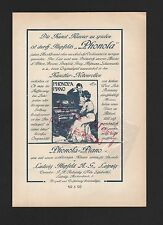 LEIPZIG, Werbung 1908, Ludwig Hupfeld AG Phonola-Piano