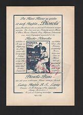 Leipzig, publicité 1908, Ludwig HUPFELD AG phonola-piano