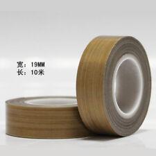 PTFE Teflon Heat Resistant Fiberglass Fabric Silicone Adhesive Tape 19mm*10M