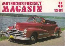 Motorhistoriskt Magasin Swedish Car Magazine 19 1981 Saab040317nonDBE