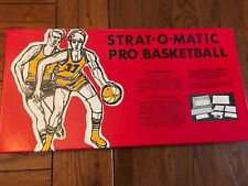 1973-74 Strat-O-Matic Pro Basketball Board Game  Complete w/ KNICKS & WARRIORS