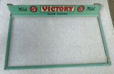 old tin litho glass box lid display sign advertising Victory Cigars
