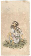 Beggar Painting Indian Handmade Original Paper Water Color Decorative Miniature