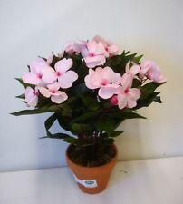 New Pale Pink Guinea Bizzie Lizzie Bush Artificial Silk Pot Plant