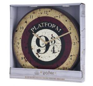 BRAND NEW HARRY POTTER PLATFORM 9 3/4 WALL CLOCK 29.5CM DIAMETER