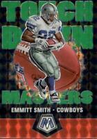 2020 Panini Mosaic Emmitt Smith Touchdown Masters Green Prizm Dallas Cowboys