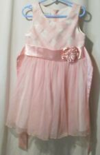 Bonnie Jean Girls Party Dress Size 5 Summer Pink plaid tulle (2-227A