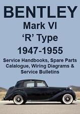 BENTLEY MARK VI R Type WORKSHOP MANUAL 1946-1955