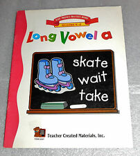 Easy Phonics Practice Books Long Vowel A Grades K-2 Workbook Homeschool TCM 2231
