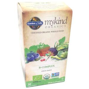 Garden of Life Vitamin B Complex 30 Tablets Mykind Organic Vegan Vegetarian