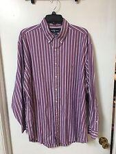 ralf lauren long sleeve purple dress shirt size: 17 1/2-35 100% cotton