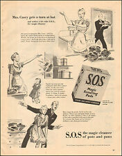 Vintage ad for S.O.S. Magic Scouring Pads `Art 40's Apron Kitchen  072417