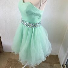 Dress Sweet 15 16 Mint Quinceanera Beaded Ruffles Prom Formal Wedding Ball Gown