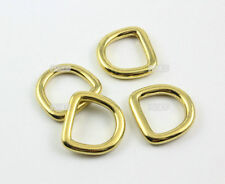 12 Pieces 16mm Solid Brass D Ring For Purse Bag Handbag Strap Dee Ring