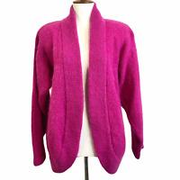 Ca Va Kimono Sweater Size 36 Fuchsia Pink Mohair Wool Vintage Open Cardigan Coat