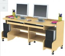 Double Computer Desk • Multimedia Storage  • Age 6-8 Years
