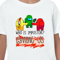 Among Us Kids Adults Sus Bro Imposter T-Shirt Crewmate Gaming Printed Gift Tee 3