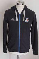 ADIDAS FIR RUGBY ITALIA ITALY S felpa cappuccio hoodie sweatshirt E4809