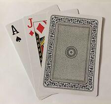 "Giant 7"" x 5"" Plastic Coated Large Playing Cards Poker Jumbo Black Deck King"