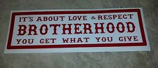 "HELLS ANGELS SUPPORT STICKERS ""BROTHERHOOD"" 1x3"