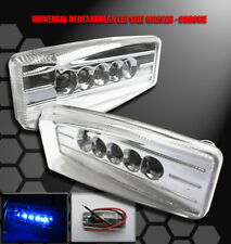 UNIVERSAL BUMPER BLUE LED SIDE MARKER LIGHTS LAMP GALANT G3 G5 SUNFIRE WAVE NEON