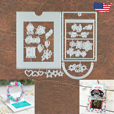Create Your Own Slider Card Cutting & Embossing Dies - Festive Wreaths GC Holder