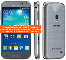"SAMSUNG GALAXY BEAM2 G3858 Quad-Core 5.0mp Camera 4.66"" Android Phone GreySilver"