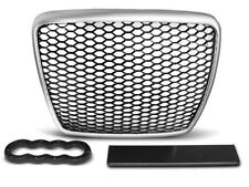 AUDI A6 C6 2009 2010 2011 GRAU15 GRILL SILVER-BLACK RS-STYLE