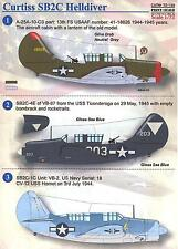 Print Scale Decals 1/72 CURTISS SB2C HELLDIVER U.S. Navy Dive Bomber