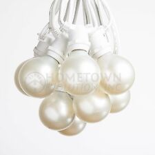 G50 White Pearl Globe C9 Commercial String Lights (100', 50' and 25' Lengths)