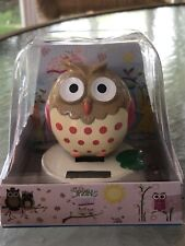 Solar Powered Dancing Toy Bobblehead New Little Brown Owl