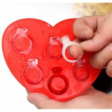 Hot Diamond Ring Ice Cube Tray Silicone Freeze Jelly Pudding Mold Fondant Mould