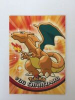 1999 Topps Pokemon  #06 Charizard TV Animation Pokemon Card Black Logo Near Mint