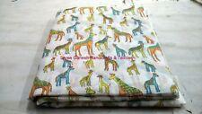 INDIAN HAND BLOCK PRINT FABRIC 1 YARD 100 % COTTON NEW ANIMAL PRINT FABRIC S 138