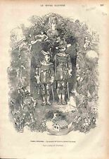Geneviève de Brabant au Théâtre de la Gaité à Paris GRAVURE ANTIQUE PRINT 1875