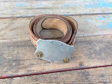 Vintage Hand Finished Top Grain Cowhide Belt w/ Nickel Silver Buckle -Size 36