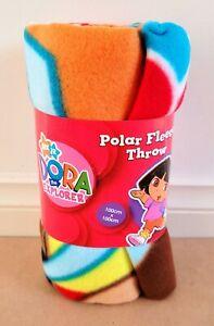Nickelodeon Jr. Dora The Explorer – Dora Kids/Girls Polar Fleece Throw Brand New