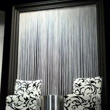 String Tassel Panel Curtain Room Divider Door Hanging 1m x 2m White FREE POST
