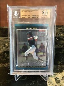 BGS 9.5 Gem RC B.J. UPTON  2002 Bowman Chrome Draft Melvin Upton JR Tampa Rays
