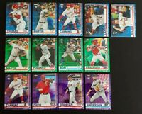 2019 Topps Update CHROME GREEN BLUE PURPLE PARALLEL You Pick /99 /150 /175
