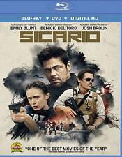 Sicario [Blu-ray + DVD + Digital HD] New, Free shipping