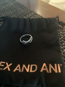 Alex and Ani sterling silver sword wrap ring