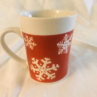 White Red Royal Norfolk Coffee Latte Cup Mug Christmas Holiday Snowflakes