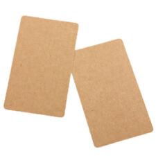 1X(100 Brown Kraft Label Paper Tag Blank Luggage Card Party Wedding Hang Gi V2B3