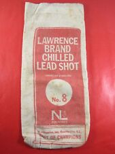 Vintage Advertising Lawrence Brand No 8 Chilled Lead Shot Canvas Bag. Empty