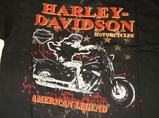 """Harley-Davidson Men's S/S Black """"Night Rider"""" SKull Shirt 3XL"""