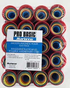 Pro Basic Marianna Smooth Magnetic Roller Flat Pack NEW SEALED Hair Curlers -120