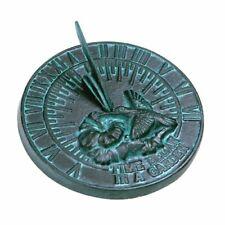 Rome 2532 Hummingbird Sundial, Cast Iron with Verdigris Finish, 7.5-Inch Diamete